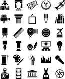 Iconos de los artes Foto de archivo