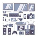 Iconos de los artilugios fijados libre illustration