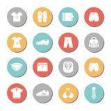 Iconos de los aspectos fijados Foto de archivo libre de regalías