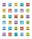 Iconos de los avatares de los hombres - versión cuadrada Imágenes de archivo libres de regalías