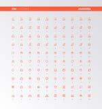 Iconos de los avatares del usuario de UI UX ilustración del vector