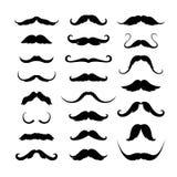 Iconos de los bigotes fijados Ilustración del vector Foto de archivo
