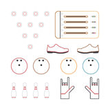 Iconos de los bolos Fotografía de archivo libre de regalías