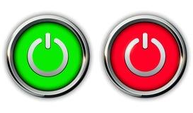 Iconos de los botones de encendido libre illustration