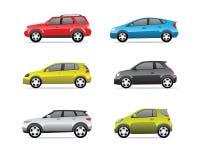 Iconos de los coches Fotografía de archivo libre de regalías