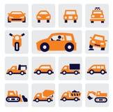 Iconos de los coches Foto de archivo libre de regalías