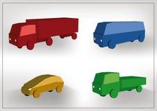 Iconos de los coches fijados Foto de archivo