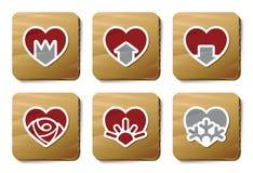 Iconos de los corazones | Serie de la cartulina Imagen de archivo