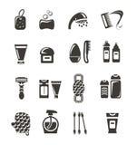 Iconos de los cosméticos Imágenes de archivo libres de regalías