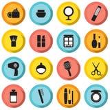 Iconos de los cosméticos Foto de archivo libre de regalías