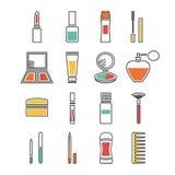 Iconos de los cosméticos Fotografía de archivo libre de regalías
