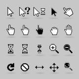 Iconos de los cursores Fotos de archivo
