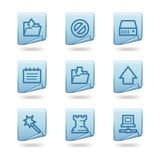 Iconos de los datos Fotografía de archivo libre de regalías