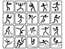 Iconos de los deportes Imagen de archivo
