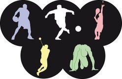 Iconos de los deportes de las Olimpiadas Imágenes de archivo libres de regalías