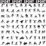 Iconos de los deportes fijados ilustración del vector