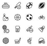 Iconos de los deportes fijados Imagenes de archivo