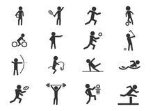 Iconos de los deportes fijados Imagen de archivo libre de regalías