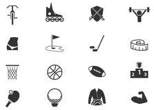 Iconos de los deportes fijados Foto de archivo libre de regalías