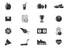 Iconos de los deportes fijados Fotografía de archivo libre de regalías