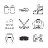 Iconos de los deportes de invierno ilustración del vector