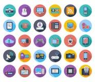 Iconos de los dispositivos Foto de archivo libre de regalías