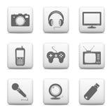 Iconos de los dispositivos electrónicos Imagenes de archivo