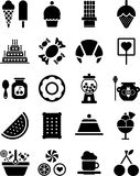 Iconos de los dulces Imagen de archivo libre de regalías