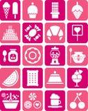 Iconos de los dulces Fotografía de archivo