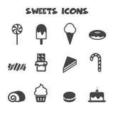 Iconos de los dulces Imagenes de archivo
