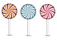 Iconos de los dulces y de los caramelos fijados Fotografía de archivo