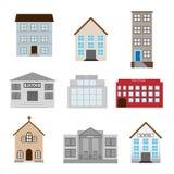 Iconos de los edificios Imagenes de archivo