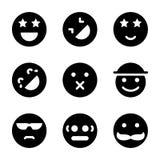Iconos de los Emoticons fijados ilustración del vector