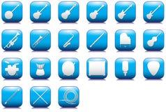 Iconos de los esquemas de los instrumentos fijados Imagenes de archivo