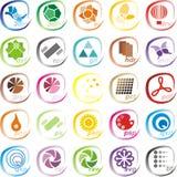 Iconos de los ficheros gráficos Foto de archivo libre de regalías