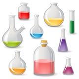 Iconos de los frascos Imágenes de archivo libres de regalías