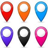 Iconos de los gps del vector Fotografía de archivo libre de regalías