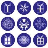 Iconos de los iconos de la Navidad Fotos de archivo libres de regalías