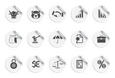 Iconos de los iconos de las finanzas | Serie pegajosa ilustración del vector
