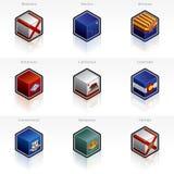 Iconos de los indicadores de Estados Unidos fijados Fotografía de archivo