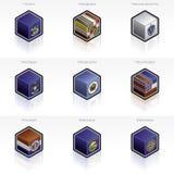 Iconos de los indicadores de Estados Unidos fijados Imágenes de archivo libres de regalías