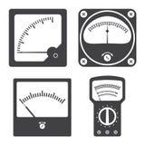 Iconos de los instrumentos de medida eléctricos Fotos de archivo