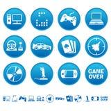 Iconos de los juegos de ordenador Foto de archivo libre de regalías