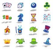 iconos de los juegos fijados Foto de archivo
