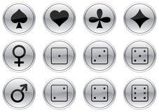 Iconos de los juegos fijados. stock de ilustración