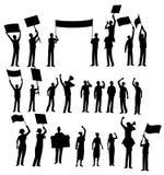 Iconos de los manifestantes Fotografía de archivo