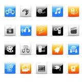 Iconos de los media Fotos de archivo