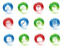 Iconos de los media Ilustración del Vector