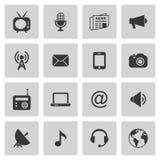 Iconos de los media Imagenes de archivo
