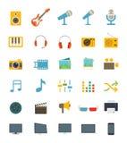 Iconos de los media stock de ilustración